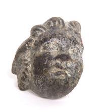 Ancient Roman Bronze Face of Eros c.1st-2nd century AD.