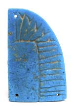 Ancient Egyptian Blue Faience wing c.635 BC.