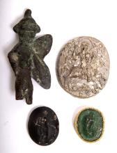 Lot of 4 Ancient Roman and later period Intaglios with Bronze Eros c.1st-2nd cen AD.