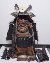 Antique Japanese samurai Armor set(Yoroi) complete setage: