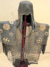 Japanese antique 17th century samurai chainmail Armor