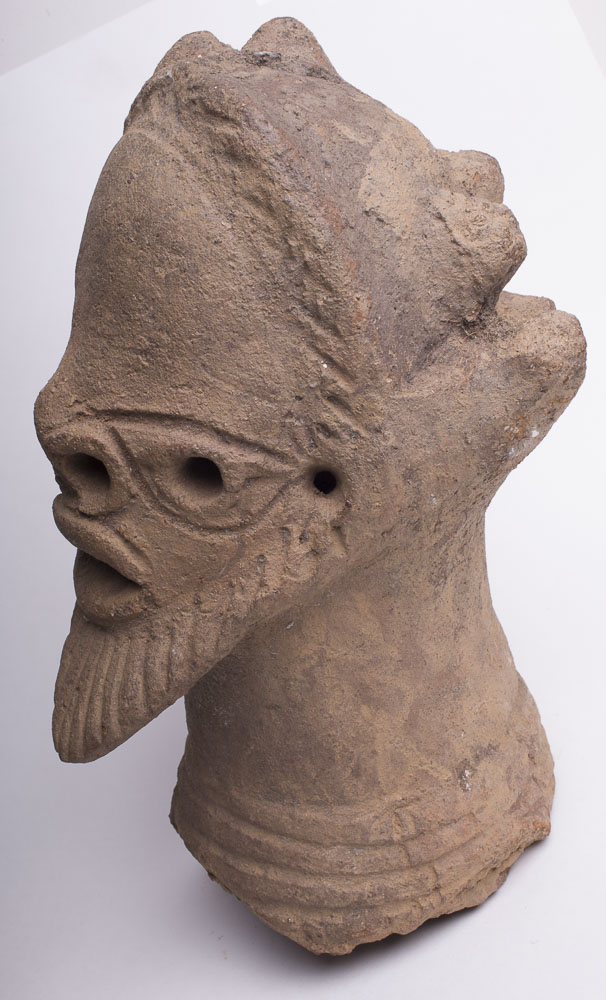 ancient African Nok Pottery Head of Bearded Man c.500 BC-200