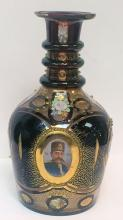 19th Cent Bohemian Glass Decanter Made for the Persian Market.