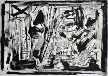 Emilio Vedova (1919-2006) Bozzetto-studio per grandi Teleri in bianco e nero 1968
