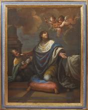 Giovanni Camillo Sagrestani (Firenze 1660 – 1731) SAN LUIGI DI FRANCIA olio su tela,