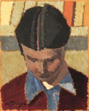 Oscar Ghiglia (Livorno 1876 - Firenze 1945) RITRATTO DI DONNA olio su cartoncino, cm 12,5x1