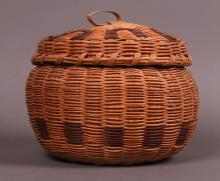 Native American weaved basket from mid 1900's.  Certificate of Authenticity, Chief Osceola of Seminole Tribe.
