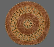 Southern American hand woven sweet grass dining center place mat, late 19th/early 20th century