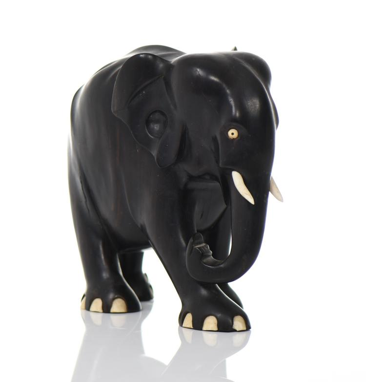 Ebony Wood Elephant, Large And Heavy.   Estima