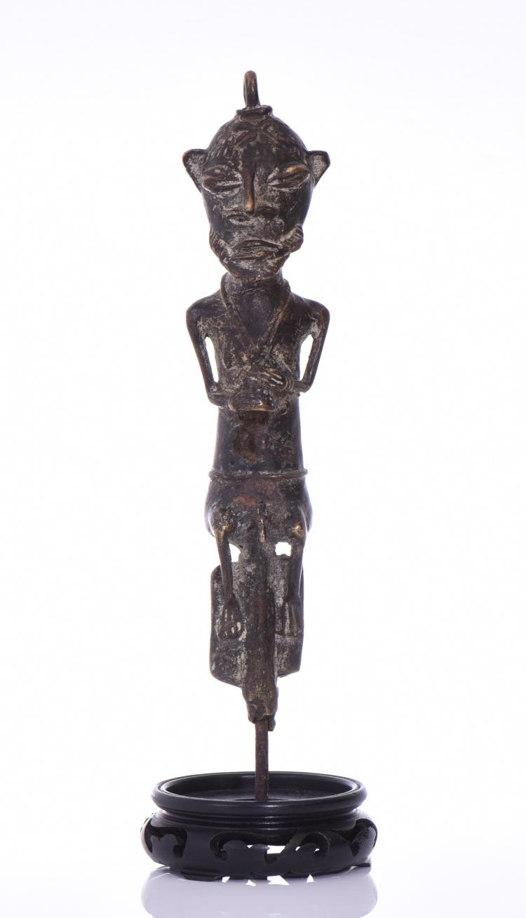African Akan Bronze Sculpture.  Estimated more