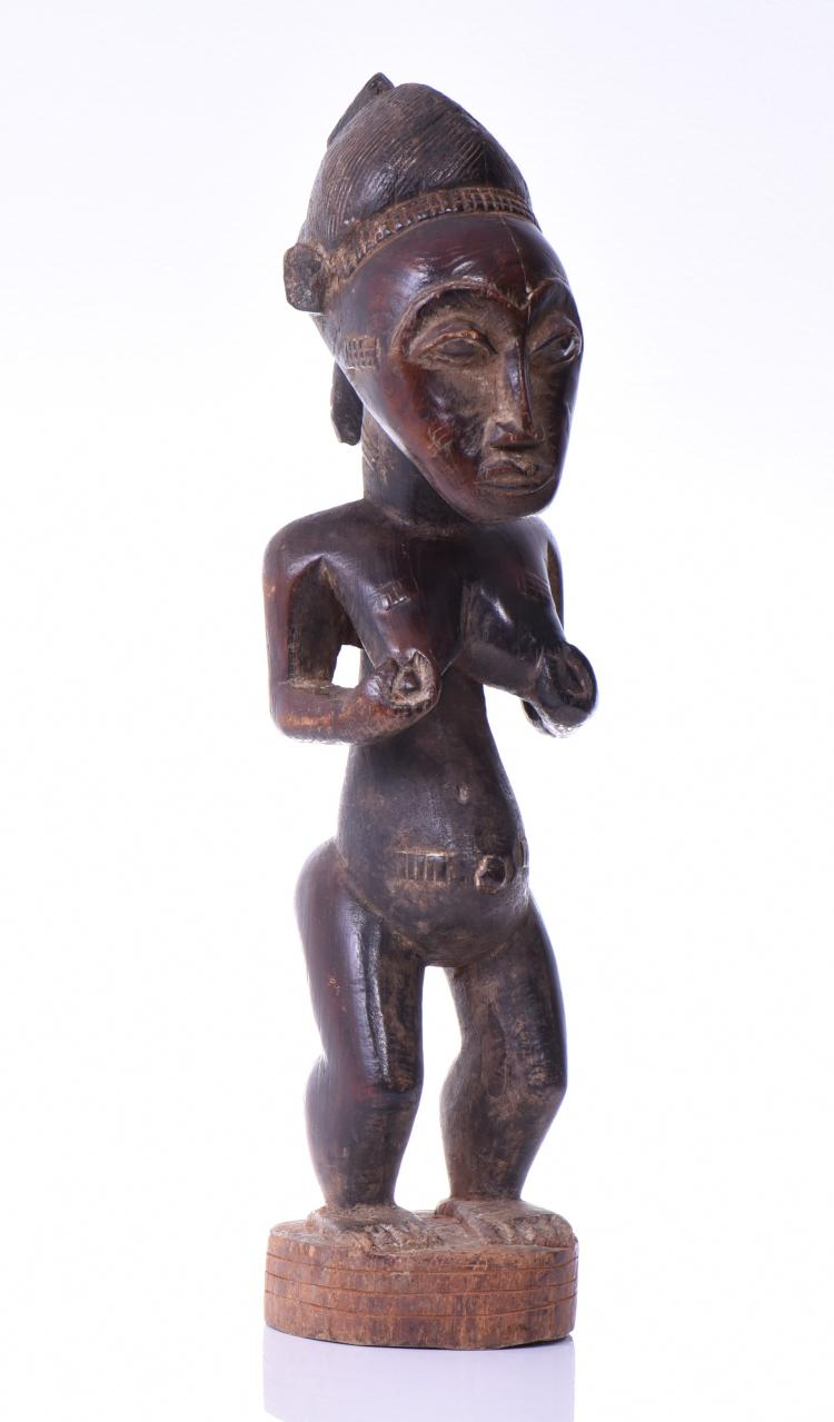African Power Figure, Carved From Wood. These