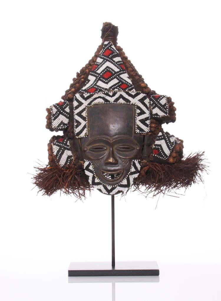 African Kuba ,Lele Helmet Mask, Congo. Lele ma