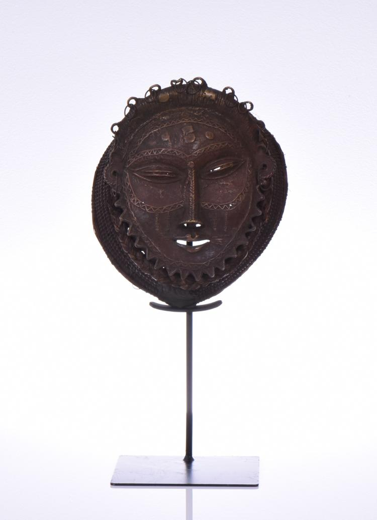 African Songye-Luba Kifwebe bronze mask, Democ