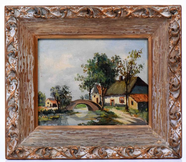 French Impressionist Painting, Oil On Artist B