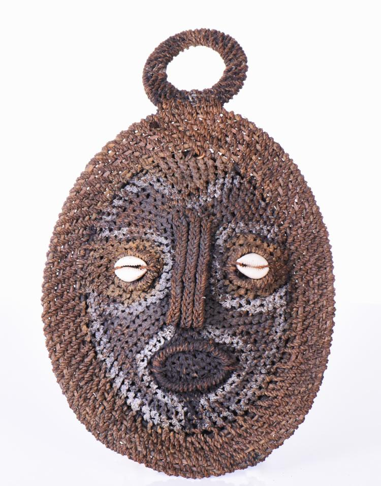 Papua New Guinea Woven Turtle Shell Mask. Est