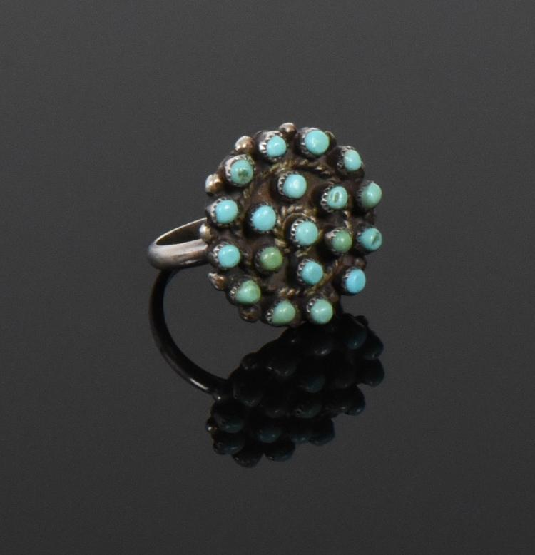 Zuni, Sleeping Beauty Turquoise Sterling Silve