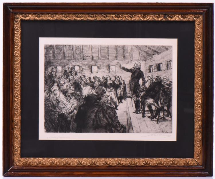 Albert Edward Sterner 1932 Etching Titled And