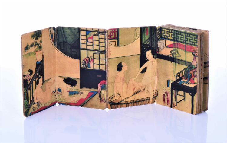Chinese Erotica Block Print Scroll/Book Titled
