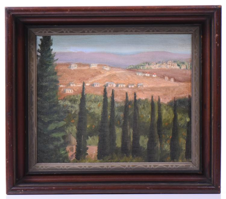 Italian Impressionist Landscape, Oil On Canvas