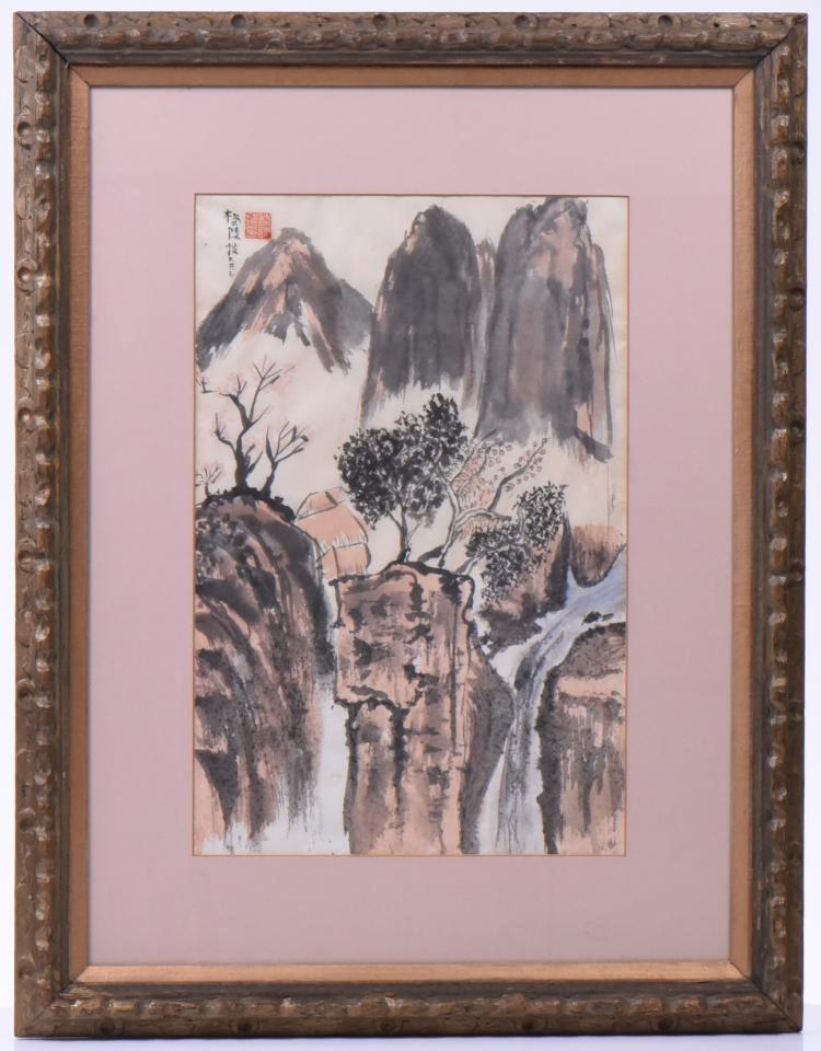 Chinese Watercolor Painting Ca. 1930, Artist S