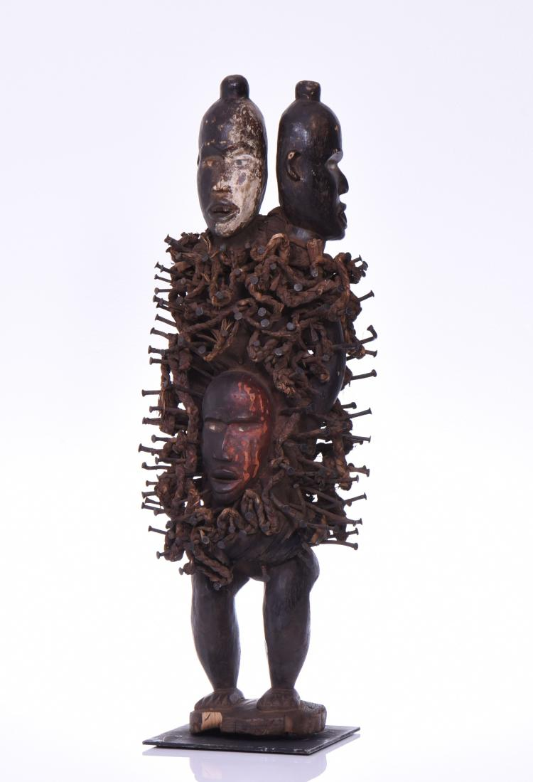 Extremely Rare Two Headed African Nkonde Nail