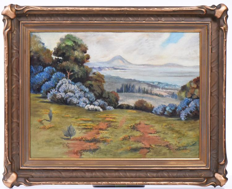 Early 1900'S California Plein Air Painting Sig