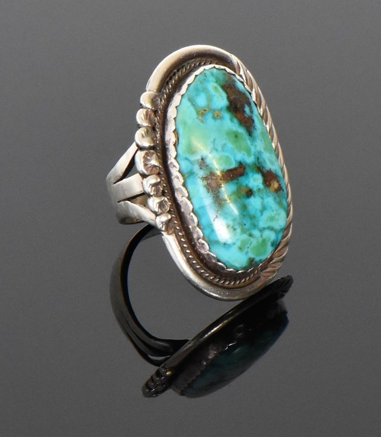 James Shay, Navajo Turquoise Sterling Silver R