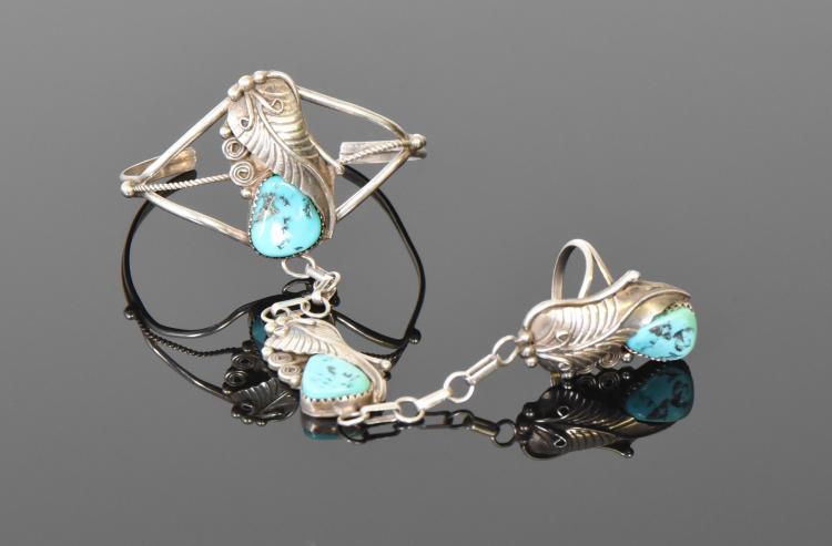 Herman Lee, Navajo Slave Bracelet With Turquoi