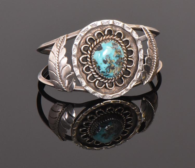 Navajo, Billy Slim 925 Sterling Silver and Tur