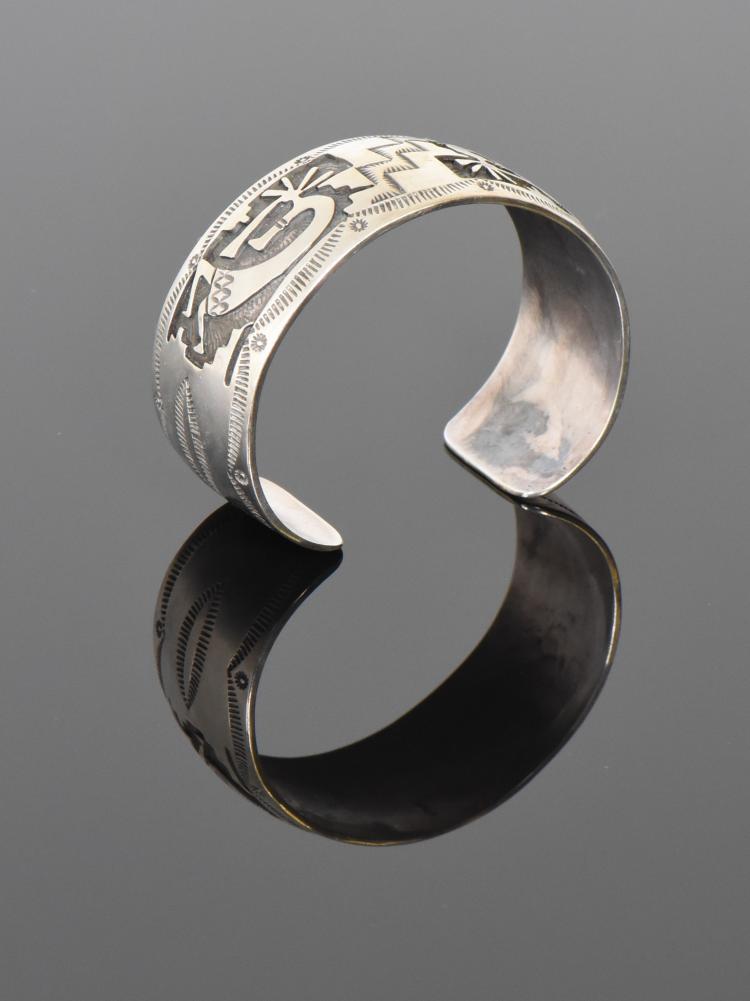 Hopi Native American 925 Sterling Silver Cuff