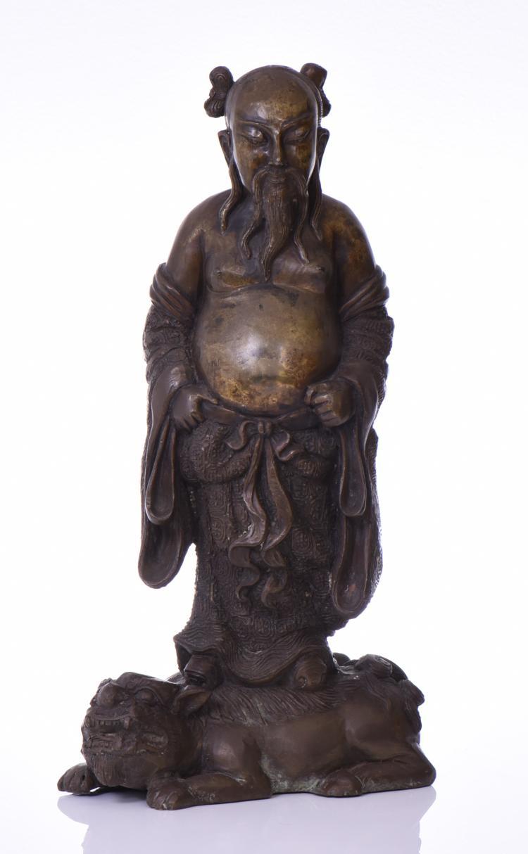 Chinese Sand Cast Bronze Of Guan Gong Yu Warri
