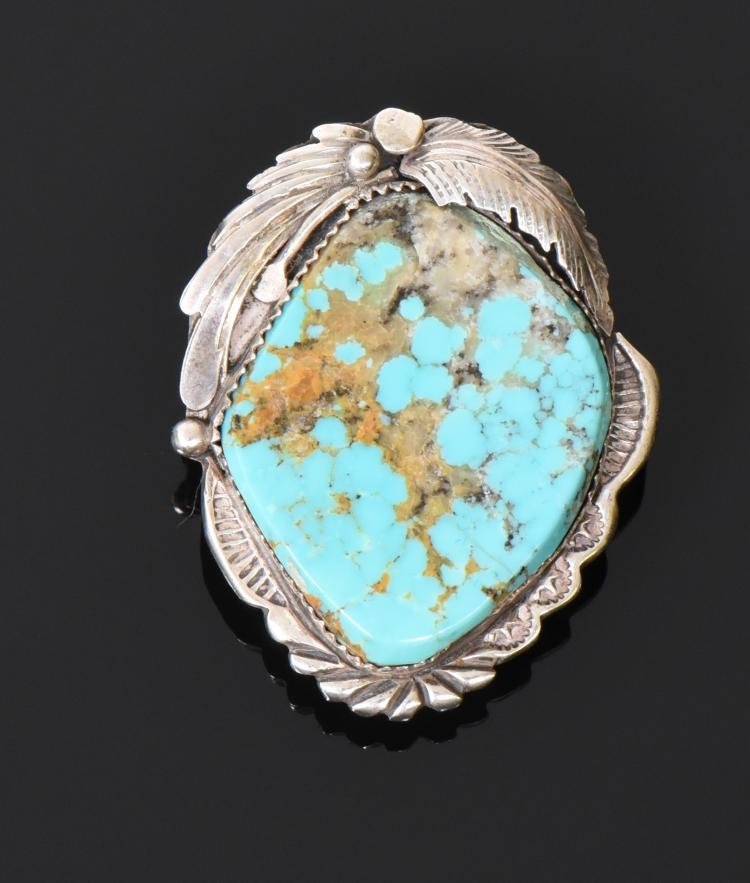 Exquisite Native American Blue Turquoise Sterl