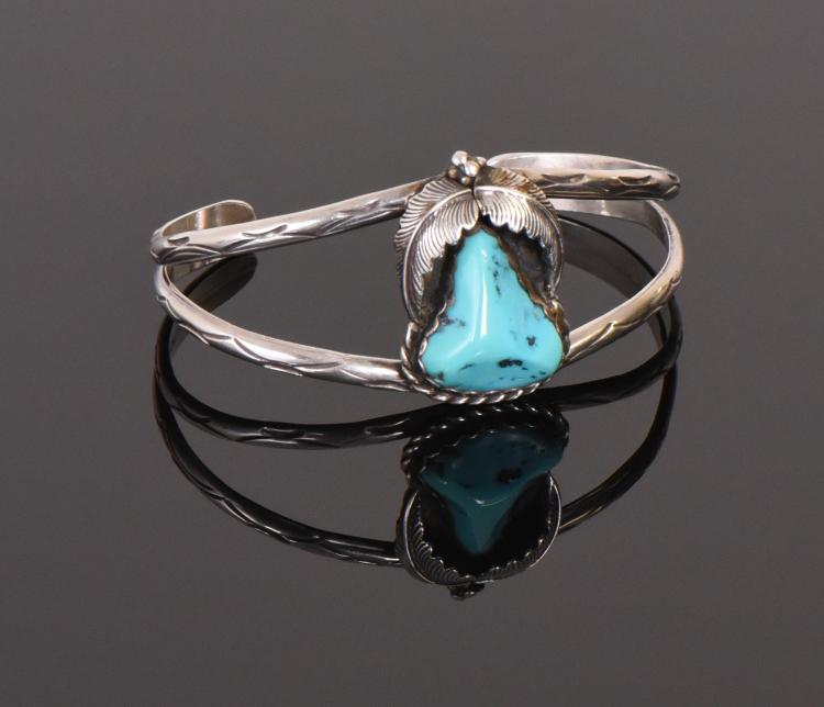 Native American Turquoise Center Stone 925 Ste