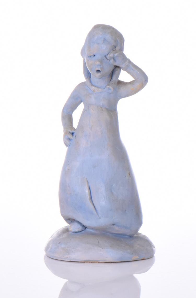 S. Bowers, Blue Ceramic Handmade Sculpture, #1