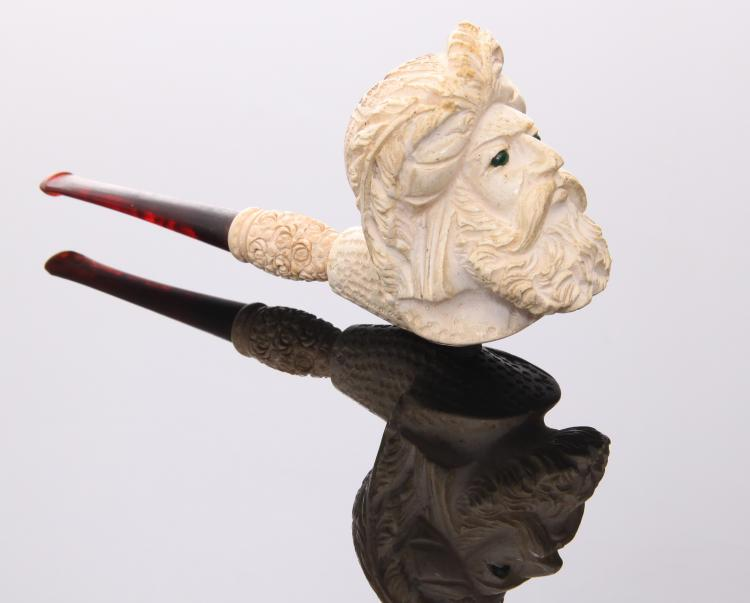 Meerschaum Hand Carved Pipe.  Estimated less t