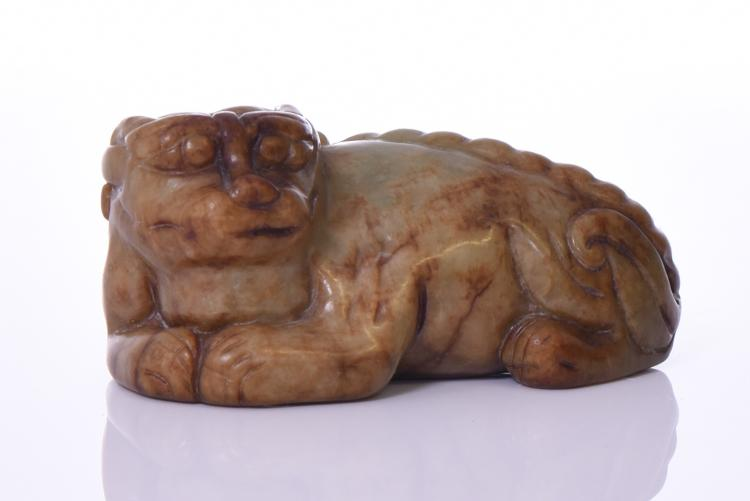 Chinese Russet Jade Foo Dog. Estimated more
