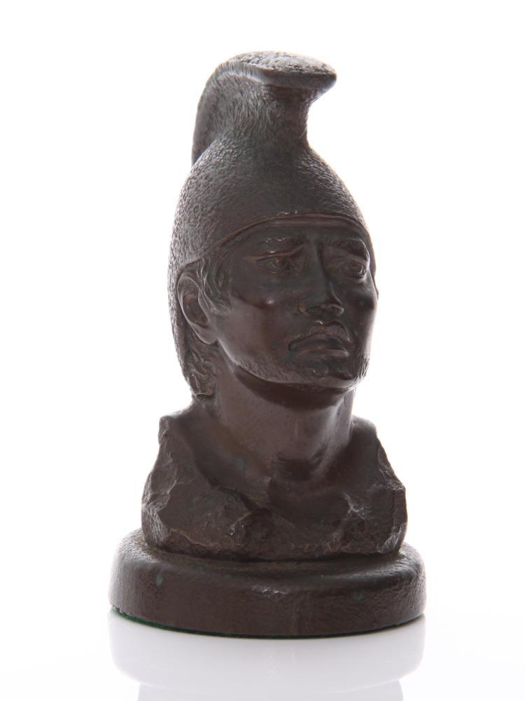 Bronze Roman/Spartan soldier sculpture.   Esti