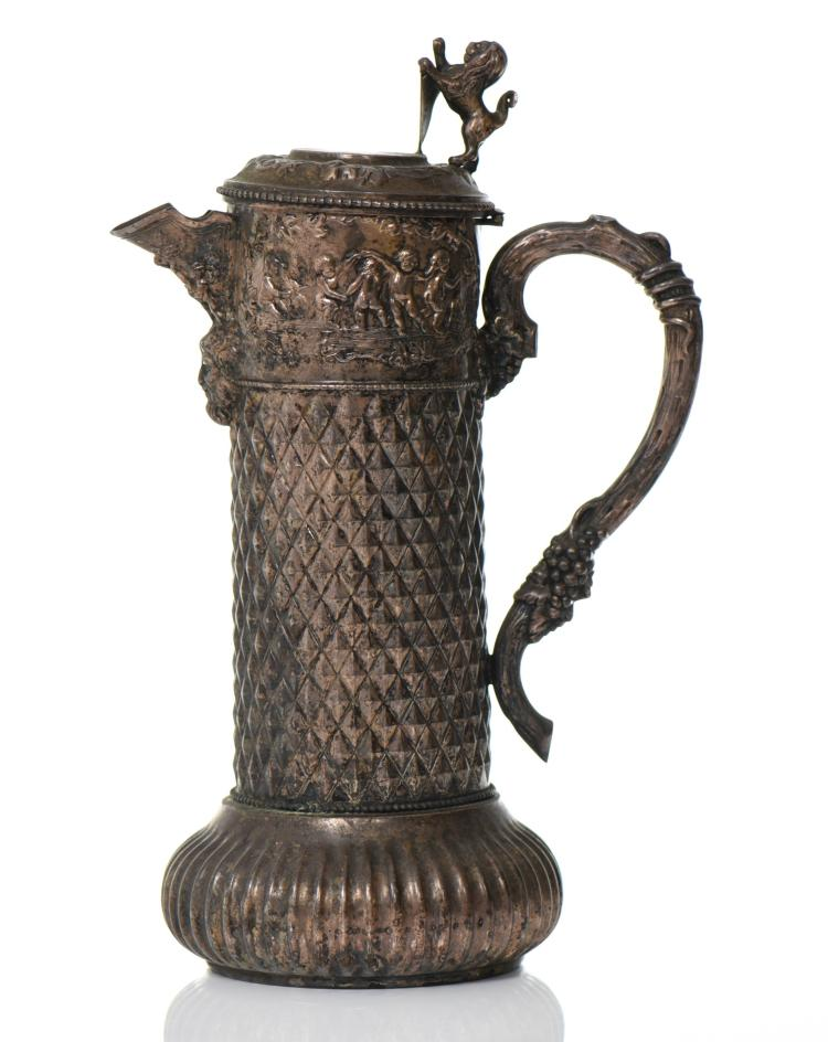 Bronzed Metal Wine Ewer Or Coffee Pitcher Ador