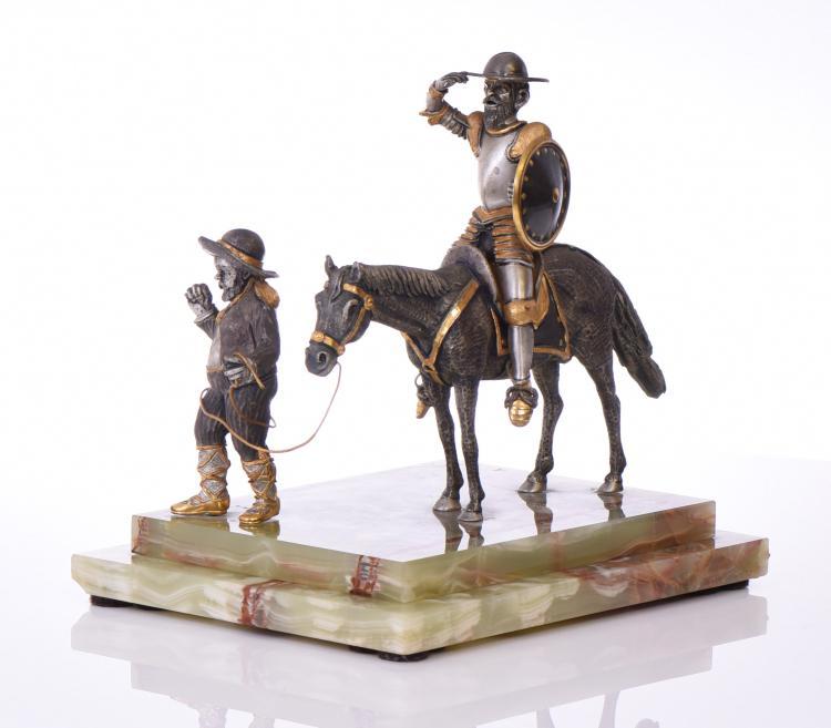A Rare Giuseppe Vasari, Italian Gilded Bronze