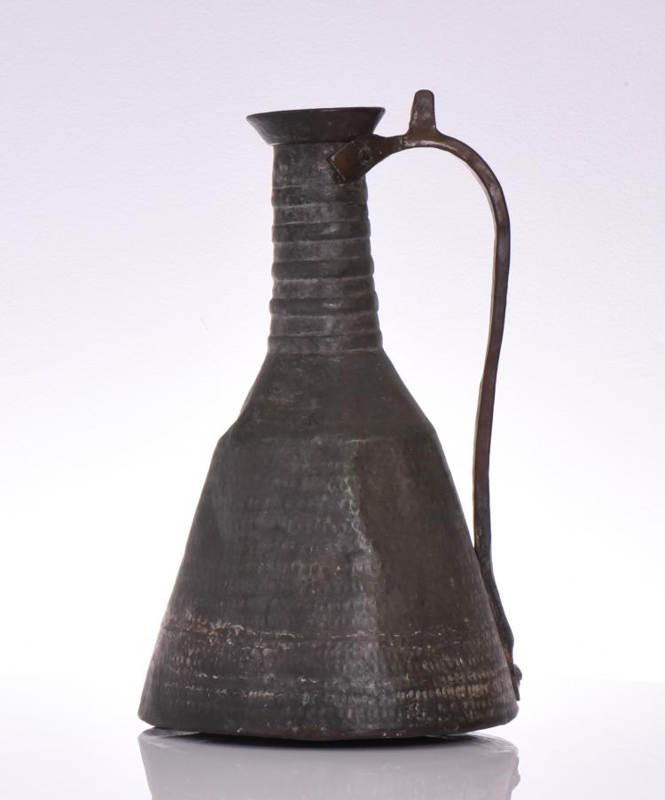 Middle Eastern Copper Ewer.  Estimated more th