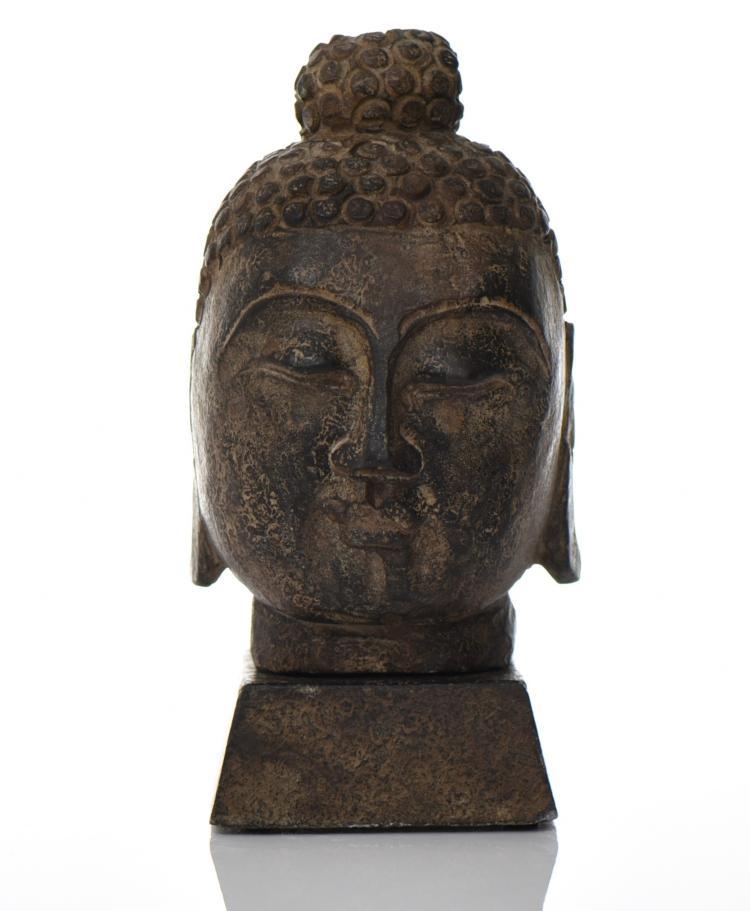 Indonesian Stone Carved Buddha Head, Origin Th