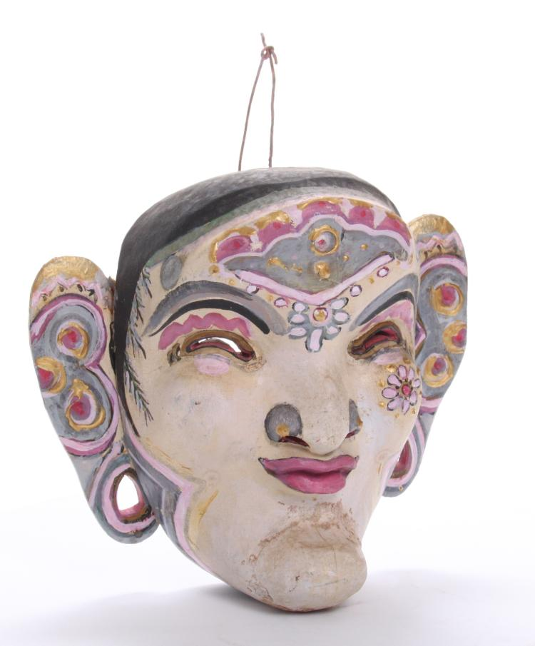 Indonesian Hand Painted Mask. Estimated more
