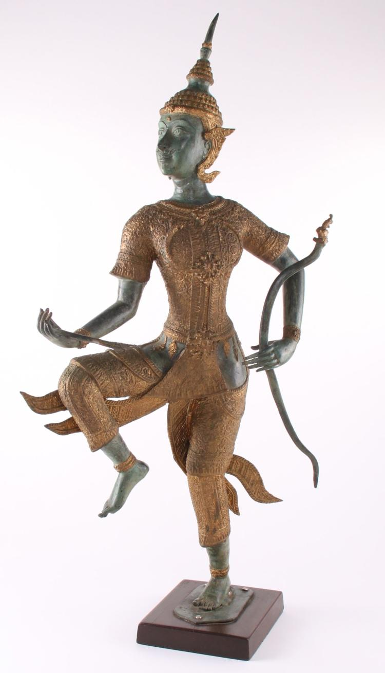 Thai/Balinese Mythical Archer parcel gilt acce