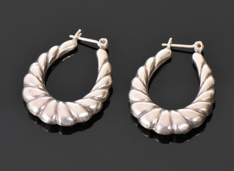 Vintage Sterling Silver Earrings.  Estimated m
