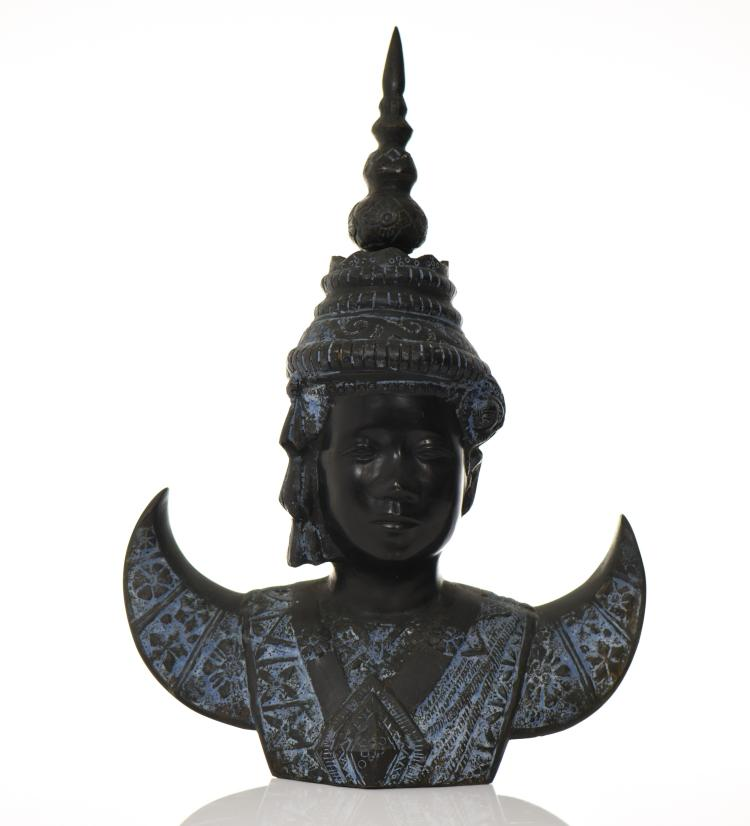 Rare Bronze Bust Of Bao Dai, The Last Emperor