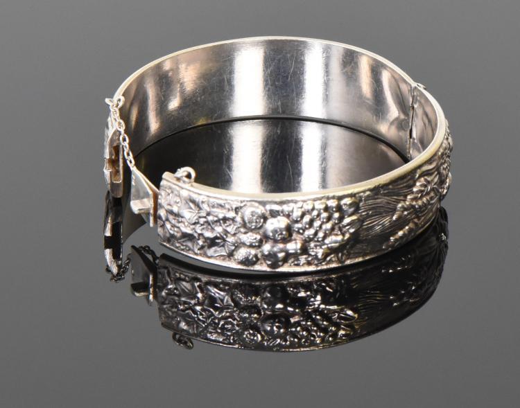 Vintage Sterling Silver Bracelet with Unique H