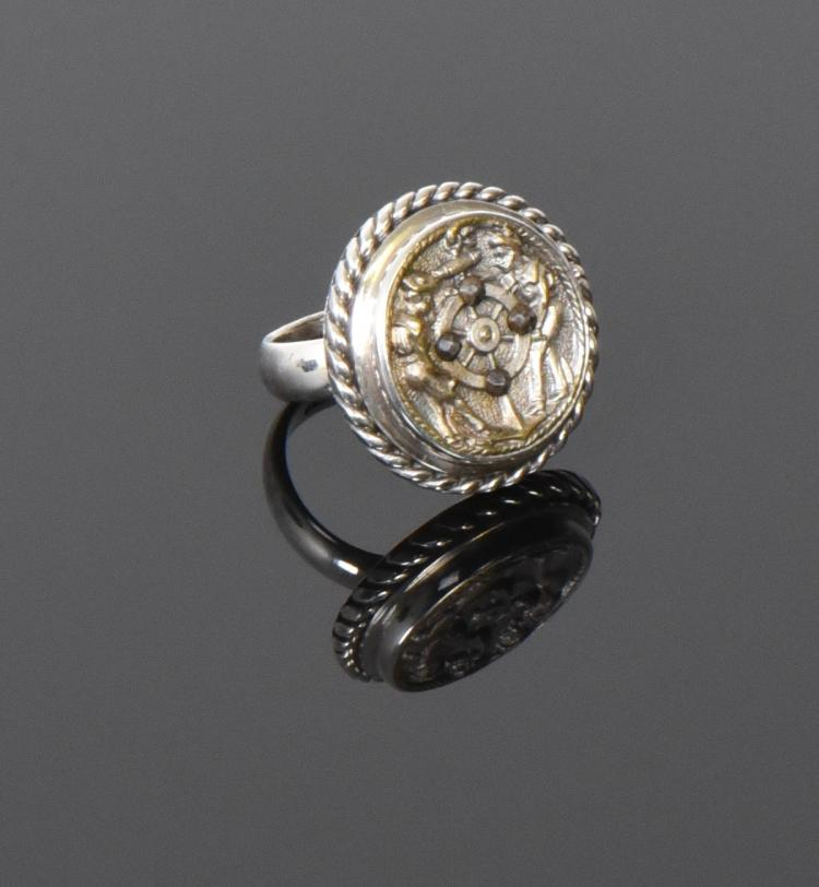Designer ALXN Sterling Silver Ring With Repurp