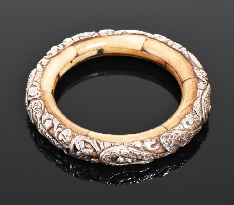 Antique Snake Bangle Made With Sterling Silver