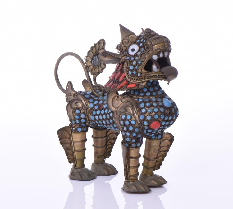 Tibetan Qilin Perfume Bottle Decorated/Inlaid