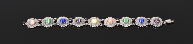 Man Thai Multi Color Stone Sterling Silver Ten